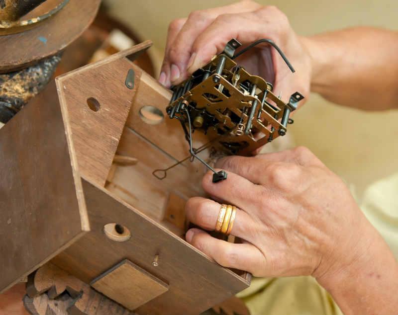 mecanismo reloj de cucu